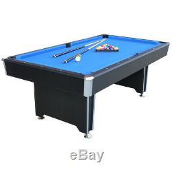Heavy Duty Bleu Tissu Callisto 7ft Table De Billard Avec 2 Full Size 57 Pouces Cues