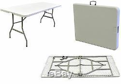 Heavy Duty De Plastique En Plein Air Table Demi-marché Pliant Décrochage Brocanteur Collage