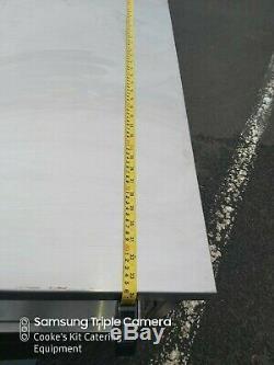 Heavy Duty Entièrement Soudée Table En Acier Inoxydable, Tiroirs Et 2 Undershelves 95 X 86cm