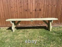 Heavy Duty Garden 6 Seater Table Et Deux Bancs