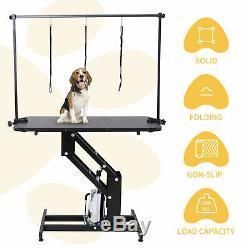 Heavy Duty Grande Toilettage Hydraulique Pet Dog Bath Table Station Avec H Arm Bar