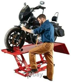 Heavy Duty Hydraulique Atv Motorcycle Lift 1000 Lb (1/2 Ton) Vélo Béquille Table