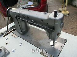 Heavy Duty Industrial Singer 291u1 Machine À Coudre & Table