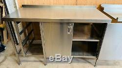 Heavy Duty Inoxydable Table De Travail / Acier Table 150cm / Commercial