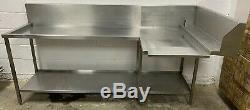 Heavy Duty Lave-vaisselle En Acier Inoxydable Sortie / Sortie Tableau 2300 MM £ 300 + Vat