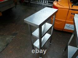 Heavy Duty Stainless Steel 3 Tier Infill Table 250 X 600 MM £100 + Tva