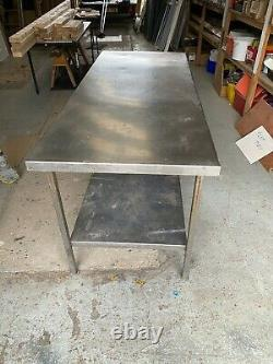 Heavy Duty Stainless Steel Catering Table Work Bench Prep Table 2 Tier