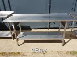 Heavy Duty Travail En Acier Inoxydable Table 1800mm