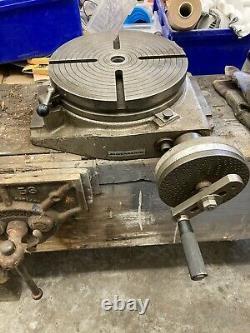Hofmann Table Rotative, Machine De Fraisage, Lane, Ingénierie, Cast, Solide Heavy Duty