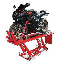 Hydraulic Motorcycle Table Lift Heavy Duty Mechanics Garage Workshop Ce Approuvé