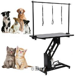 Hydraulique Bain Toilettage Table Chiens Chats Animaux Table Réglable Rotatif Toilettage