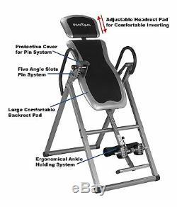 Innova Fitness Deluxe Table D'inversion, Table De Thérapie Heavy Duty Soulagement De La Douleur Dorsale