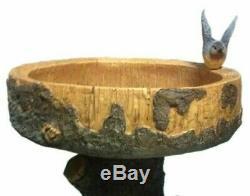 Jardin Des Oiseaux Raccoon Arbre Birdbath Bowl Table De Jardin Extérieur Bird Bath Feature