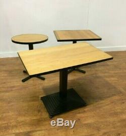 Job Lot 15 Robustes Style Industriel Tables À Manger Bistro Pub Cafe Bar En Bois