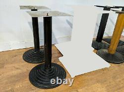 Job Lot 7 Black Pedrali Heavy Duty Cast Iron Inca Pyramid Dining Table Bases