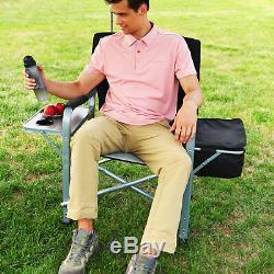 Kingcamp Camping - Chaise De Directeur Pliante - Table D'appoint Portable