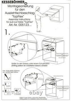 Kit De Fixations Du Système De Table De Cuisine Robuste Topflex Pullout