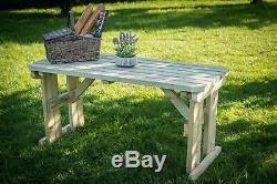 Le Jardin En Bois De Table De Pique-nique A Arrondi Les Meubles Extérieurs De Jardin Résistants