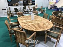 Le Mobilier De Jardin En Teck Étendant 5 Ensembles De Table De Patio En Étoile Ovale Résistants