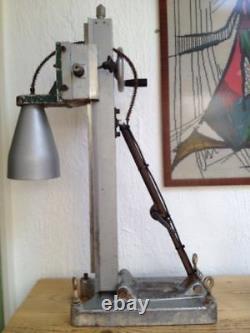 Lumière De Lampe De Table De Plancher Lourde Réglable De Hauteur De Fonte Industrielle