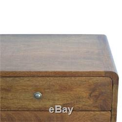 MID Century Modern Dark Wood Table De Chevet Cabinet / Table D'appoint
