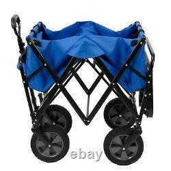 Mac Sports Collapsible Pliable Jardin D'extérieur Utilitaire Panier Avec Table, Bleu