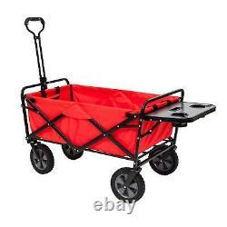 Mac Sports Collapsible Pliant Jardin D'extérieur Utilitaire Panier Avec Table, Rouge