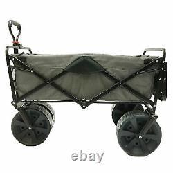 Mac Sports Collapsible Tout Terrain Beach Utilitaire Wagon Cart Avec Table, Gris