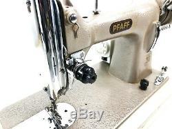 Machine À Coudre À Usage Intensif Semi-industriel Pfaff + Nouveau Moteur + Table D'extension