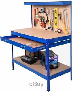 Métal Industrial Workbench Garage Boîte À Outils Atelier Table D'étagère Tiroir 3 Couleurs