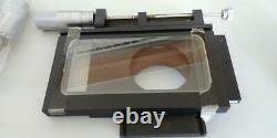 Microscope Manuel 2 Axe Xy Stage Toolmaker Table Heavy Duty Avec Extras