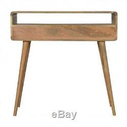 Milieu Du Siècle De Style En Bois Massif Console Table Avec Pieds Design Scandinave