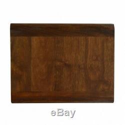 Milieu Du Siècle Déco Murale Style Table De Chevet / Table D'appoint En Bois Foncé