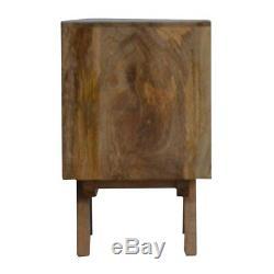 Milieu Du Siècle Moderne De Style Noir En Bois Massif Deux Tiroirs Peints Gris Table De Chevet