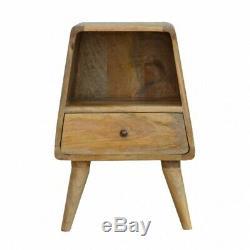 Milieu Du Siècle Scandinave Style Table De Chevet Avec Simple Tiroir