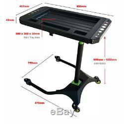 Mobile Sous Bonnet Outil Chariot Robuste Professionnel Réglable Table Mobile