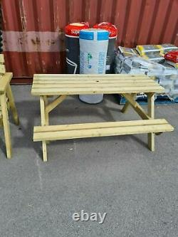 New Hand Made 5ft Patio Garden Pub Picnic Bench Table Seat Heavy Duty Fsc Timber