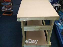 New Heavy Duty Bois Banc De Travail / Table / Bureau 6ft Main Madein Au Royaume-uni, Mdf Top 18mm