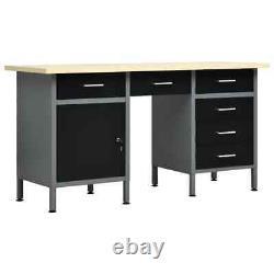 New Heavy Duty Steel Metal Workbench Table Work Banc Garage Shed Industrial