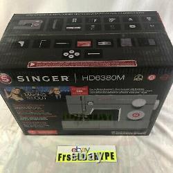 New Singer Hd6380m Machine À Coudre Avec La Table D'extension De Service Lourd Faire La Coupe