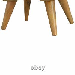 Nordic Scandinavian Style Rustic Handmade 4 Tiroirs Table De Chevet Poignées En Laiton