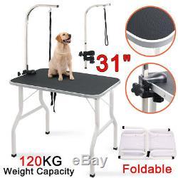 Nouveau 31 / 80cm Bras Réglable Non-slip Pliable Table Portable Pet Toilettage Pour Chiens