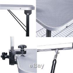 Nouveau 47 Table De Bain De Toilettage Pour Chien De Compagnie Portable Pliable Bras Antidérapant Ajuster Le Noeud Coulant