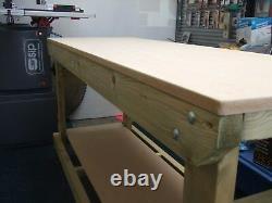 Nouveau Banc De Travail En Bois Lourd / Table / Bureau 3ft Main Madein The Uk, 18mm Mdf Top