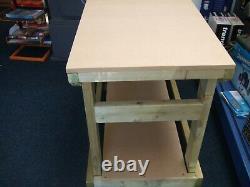 Nouveau Banc De Travail En Bois Lourd / Table / Bureau 4ft Main Madein The Uk, 18mm Mdf Top