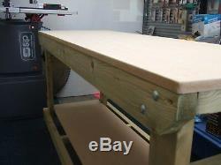 Nouveau Banc De Travail / Table / Bureau En Bois Robuste 6ft Hand Madein The Uk, Top 18 MM Mdf