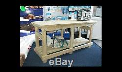 Nouveau Fait À La Main 10ft Robuste Solide Table En Bois Table De Travail / Bureau Bois Fsc