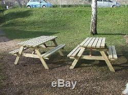 Nouveau Fait À La Main 5ft Patio Garden Pub Pique-nique Table Seat Banc Heavy Duty Fsc Timber