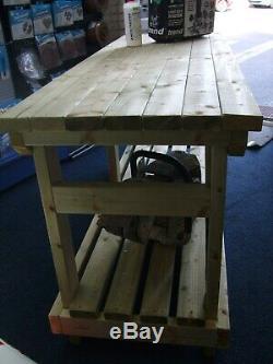 Nouveau Fait À La Main 8ft Robuste Solide Table En Bois Table De Travail / Bureau Bois Fsc