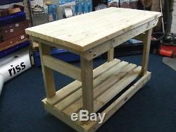Nouveau Fait Main 9ft Devoir Lourd Solide Table En Bois Table De Travail / Bureau Bois Fsc